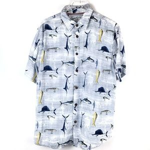 Men's Margaritaville aloha shirt fishing size L